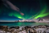 Aurora borealis, by Stein Liland