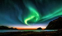 Northern lights at sunset von Stein Liland