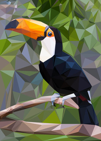 Toucan-low-poly
