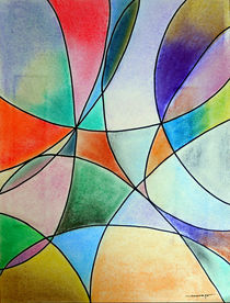 Pastel Abstract 1 by Kreativ Corner