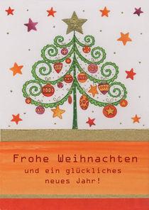 Weihnachtskarte mit Ornament-Tannenbaum by seehas-design