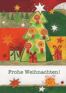 Weihnachtskarte bunter Tannenbaum von seehas-design