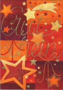 Weihnachtskarte Gutschein mit Sternen von seehas-design