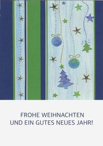 Weihnachtskarte mit Tannenbäumchen und Kugeln von seehas-design