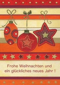 Weihnachtskarte mit hängenden Kugeln by seehas-design