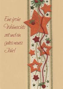 Weihnachtskarte mit Sternen by seehas-design