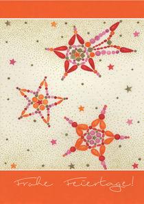 Weihnachtskarte mit bunten Sternen von seehas-design