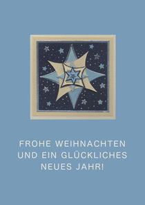 Weihnachtskarte blauer Stern by seehas-design