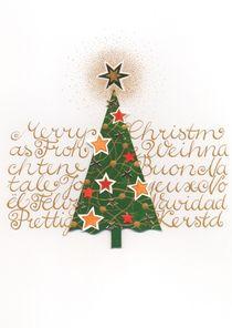 Weihnachtskarte Tannenbaum Mehrsprachig von seehas-design
