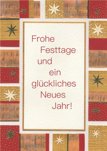 Weihnachtskarte mit buntem Rahmen von seehas-design
