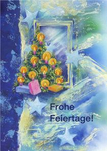 Weihnachtskarte mit Kerzen Tannenbaum by seehas-design