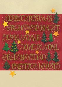 Weihnachtskarte Mehrsprachig von seehas-design
