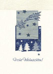 Weihnachtskarte Silberner Tannenbaum von seehas-design
