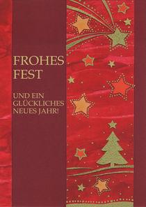 Weihnachtskarte Rot by seehas-design