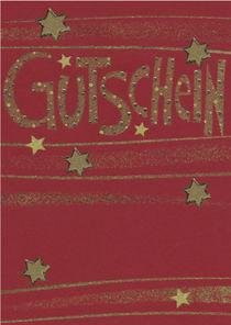 Weihnachtskarte Gutschein by seehas-design