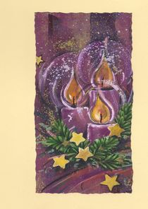 Weihnachtskarte Kerzenschein by seehas-design