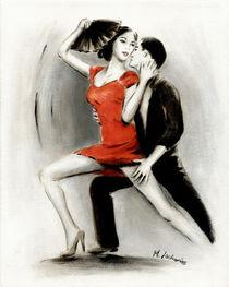 Lateinamerikanisches Tanzpaar von Marita Zacharias
