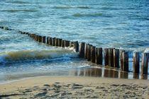 Holzbuhnen am Nordseestrand von Claudia Evans