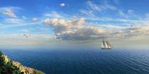 Segeln entlang der Küste von Spanien by Monika Juengling