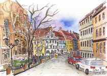 Pirna, Am Kirchplatz von Hartmut Buse