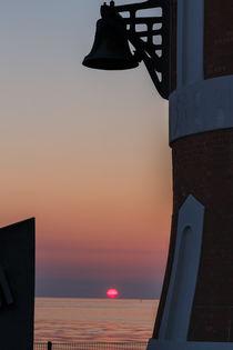 Sonne versinkt in der Weser von Frank Koller