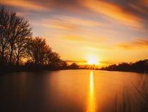 Sonnenuntergang über der Wellier Schleife by Frank Koller