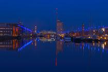 Bremerhaven - Neuer Hafen zur blauen Stunde von Frank Koller
