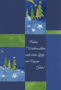 Weihnachtskarte Grüner Tannenbaum by seehas-design