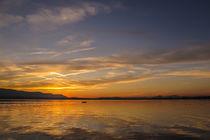 Paddelausflug bei Sonnenuntergang vor der Halbinsel Mettnau - Bodensee von Christine Horn