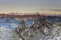 Alpines Glühen von der Schrattenflue  by Raphael Schaefer