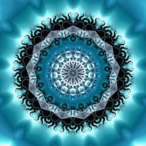 Mandala blue von Violetta Honkisz