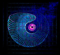 Illuminated helix #5 by Leopold Brix