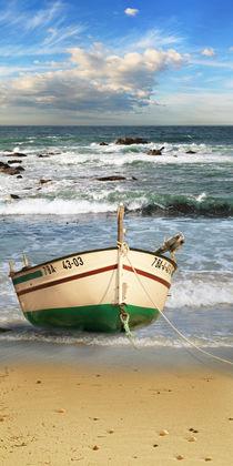 Das Fischerboot gestrandet von Monika Juengling