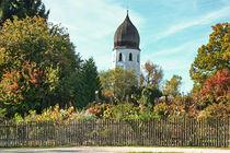 Chiemsee Herbst - Fraueninsel mit Glockenturm von Chris Berger