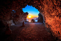 View of the sunset from Monolithos, Rhodes by Zoltan Duray