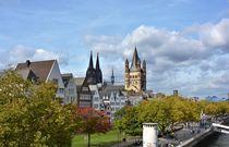 Herbststimmung am Rheinufer von Renate Grobelny