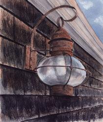 rust Lantern,  New England, Cape Cod, Massachusetts, watercolor by Ellen Paul watercolor