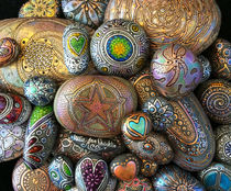 Meditation Rocks by Julie Ann Stricklin by Julie Ann  Stricklin