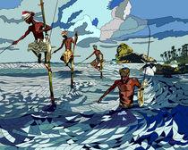 Stilt Fishermen by Sunyoung Kang