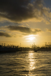 Harbour Sunset, Hamburg by Nadine Gutmann