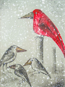 'Wintereinbruch - Ravens in the snow' von Chris Berger