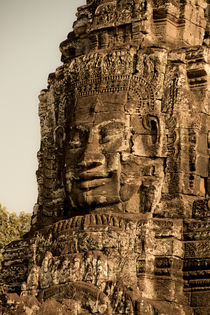 Monumentale Steingesichter am Bayon Tempel, Angkor Thom ,  Kambodscha, by travelstock44