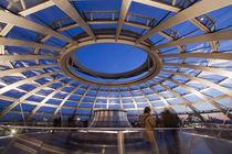 Reichstagskuppel, Fisheye, Dämmerung, Berlin  von travelstock44