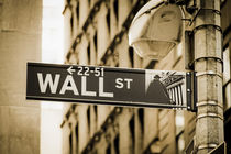 Wall Street, Manhattan, New york City, USA  von travelstock44