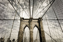 Brooklyn bridge, Sepia, New York , USA by travelstock44