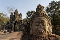 Gigantisches Gopura Eingangstor zu Angkor Thom, Angkor Wat, Siem Reap, Kambodscha von travelstock44