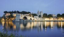 Pont St Benezet, Brücke von Avignon, Papastpalast, Avignon, Frankreich von travelstock44