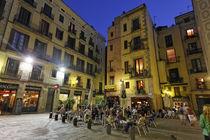 Barcelona, Plaza de Santa Maria in Ribera