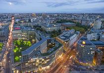 Potsdamer Platz, Panoramablick vom Kollhoff Tower auf Leibziger Platz, Berlin  by travelstock44