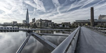 Milllenium bridge, The Shard, Tate Gallery, London, UK von travelstock44